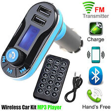 Bluetooth Car Kit FM Transmitter Radio MP3 Music Player With USB Port Wireles UK