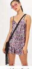 Topshop Pink sequin romper Playsuit All In One UK 10 Rrp£49 Festival Ready