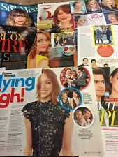 Emma Stone, Lot of SIX Full and Two Page Clippings