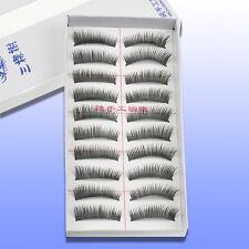 10 Pairs Natural Fashion Handmade Long False Eyelashes Thick Makeup Eye Lashes