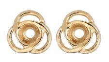 Earring Jackets Triple Loops Gold over Silver Triple Loops Jackets
