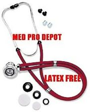 NEW IN BOX CHERRY RED SPRAGUE RAPPAPORT STETHOSCOPE!