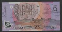 Stevens / Henry 2007 : General prefix GC07 Australian $5 Polymer Banknote Unc.