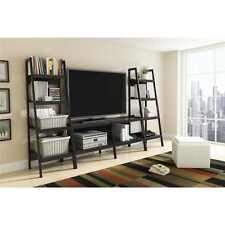 Altra Metal Ladder Bookcase, Set of 2, Black Shelves Shelf Decor Furniture Books