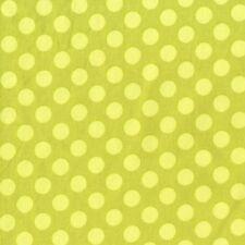 Michael Miller Ta Dot Fabric in Apple Green 1 yd Polka Dot 100% Cotton