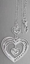 Silberkette und Anhänger Herz 925 Kette Silber mit Anhänger - Collier Silberherz