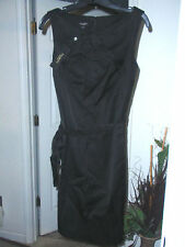 Talbots Sexy Black Business Dress With Belt & Accents NWT New RARE STYLE