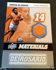 2008 UD Materials DWAYNE DE ROSARIO Game Used Orange Houston Dynamo Jersey #MM-8
