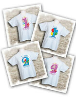 Baby & toddler 'I am 1 today' or 'I am 2 today' t-shirts, great for birthdays.