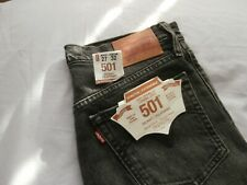 "Levi's ladies 501 skinny jeans charcoal black waist 27"" length 32"""