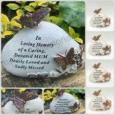 Memorial Bronze 3D Butterfly Flower Stone Plaque Tribute Graveside Ornament