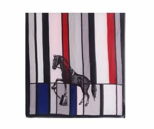 Woman's horse print scarf scarves shawls large multi GB