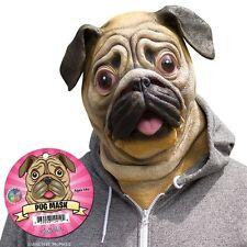 Pug Mask Deluxe Full Face Dog Head Latex Rubber Animal Costume