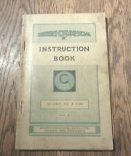VINTAGE INSTRUCTION BOOK MORRIS COMMERCIAL C TYPE RANGE 30 CWT - 3 TON 1935