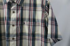 Carhartt 2XL Men's Casual Shirt Blue Red White Plaid Relaxed Fit Short Sleeve