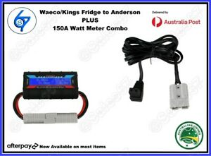 12V 10Amps Cable Anderson style Plug Fits Waeco & Kings Fridge 150A meter combo