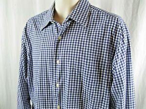 Lauren Ralph Lauren Men's Shirt  Blue White Checked 16.5 34/35 100% Cotton EUC!