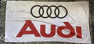 AUDI Dealer Premium Banner Flag White 3' x 5' Indoor Outdoor Automotive