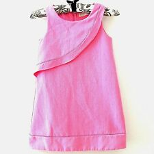 Zara Girls Size 6 7 Soft Collection Pink Ruffle Sleeveless Kids Shift Dress