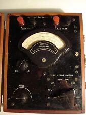 Vintage Weston Airplane Thermometer Model 81Tt4 Ser.9147 Orig. Wood Box