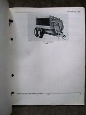 John Deere 870A Flail Manure Spreader Parts Catalog Manual ORIGINAL