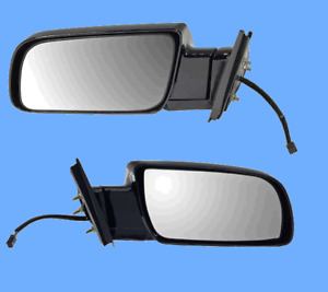 2 Power Side View Door Mirror Assembly L & R Replace GMC Chevy OEM 15036360