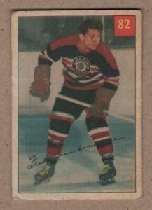 1954-55 Scarce Fred Sasakamoose Hockey Parkhurst Rookie card #82 Good     9.99$