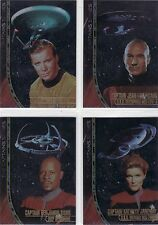 Skybox Star Trek ToS TNG DS9 Voyager Ultra Rare UnNumbered Captain Card Set