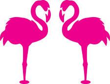 Window Wall Glass Display Pair Flamingo Bird Silhouette Decal Sticker Craft