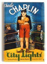 City Lights Fridge Magnet movie poster charlie chaplin