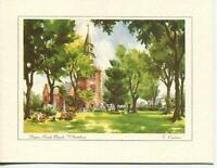 VINTAGE COLONIAL VIRGINIA WILLIAMSBURG BRUTON PARISH CHURCH PRINT 1 KITCHEN CARD