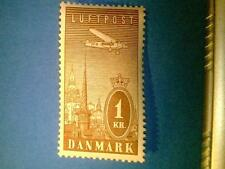 Denmark 1934 Airmail (luftpost) AFA-216-20 Scott #C6-10 (5 stamps) Perfect MNH