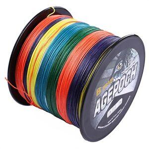 Agepoch Line 100M-2000M Test Multi-Color Dyneema Braided Fishing Line 6-300LB