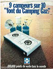 PUBLICITE ADVERTISING 0105  1970  CAMPING -GAZ    réchaud accassoires camping
