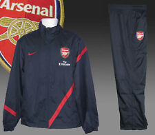 Nike Mens ARSENAL Football Club Tracksuit AUTHENTIC Navy Blue Large