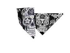 Sugar Skull Design Bikers Mask - Neck Warmer Face Wrap, Facemask - One Size