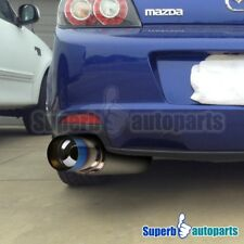 "N1 Style 4"" Flat Titanium Look Burnt Tip Stainless Steel Exhaust Muffler"