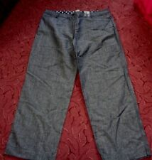 Ladies New without tags IZ blue 55% linen Trousers Size 22 or 20