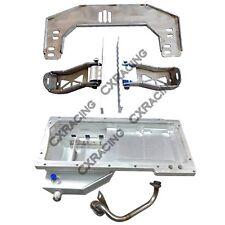 CXRacing LS1 Engine T56 Transmission Mount Oil Pan For Nissan 350Z Swap LSx