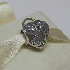 New Authentic Pandora Charm Floral Heart Padlock 791397 Bead W Tag & Suede Pouc