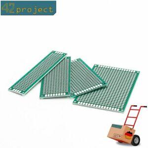 4x Lochraster Leiterplatte Streifenraster Platine Prototyping Prototypen PCB