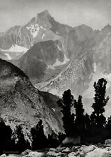 1924/63 Vintage 16x20 MOUNT CLARENCE KING Sierra Mountain Landscape ANSEL ADAMS