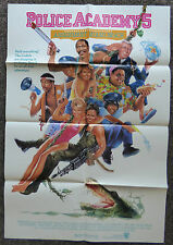 POLICE ACADEMY 5 ASSIGNMENT MIAMI BEACH 1988 ORIGINAL 1 SHEET MOVIE POSTER