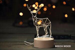 Ausgefallene Tischlampe im Rentier Design - klein - Hirsch Weihnachten Lampe Wei