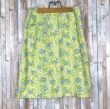 Vtg The Lilly Pulitzer 10 M 60s 70s Bright Yellow Floral Print High Waist Skirt