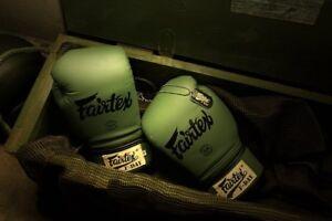FAIRTEX BGV11 F-DAY  GREEN ARMY  LIMITED EDITION GLOVES MUAY THAI TRAINING MMA