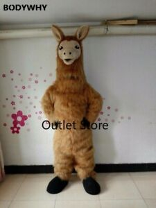 Cute Llama Mascot Costume Suit Cosplay Party Game Dress Outfit Advertising
