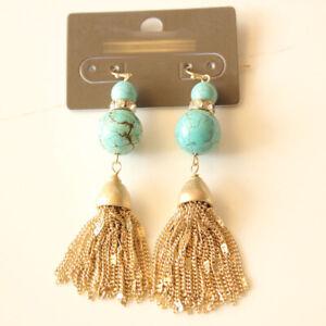 New Chicos Beads Tassel Drop Dangle Earrings Gift Fashion Women Party Jewelry
