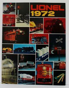 Lionel 1972 Advance Dealer Train Catalog Mint original