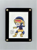 Cyclops X-Babies X-Men Original Art Sketch Card by Jacob Chabot